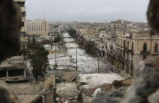 La ville d'Alep, siège d'intenses combats depuis le début de la guerre en Syrie.