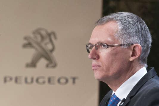 Le président du directoire PSA Peugeot Citroen, Carlos Tavares.