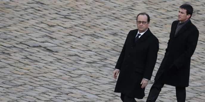 François Hollande et Manuel Valls le 3 février.
