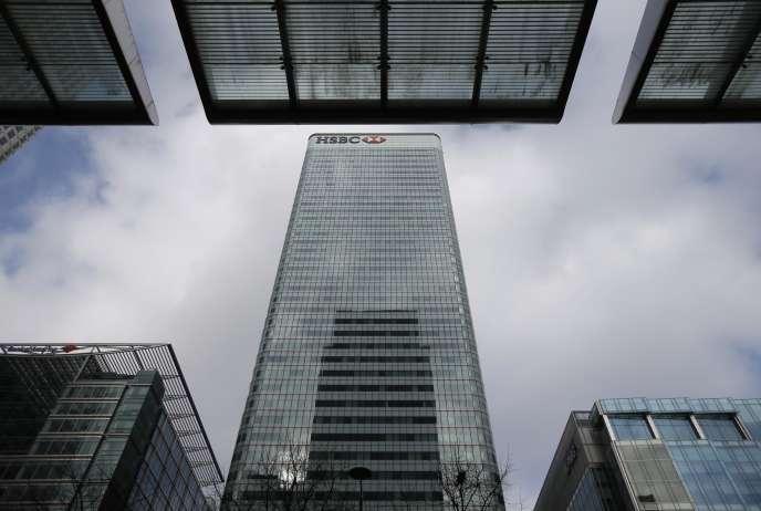 Les bureaux de HSBC à Londres, le 15 février 2015.