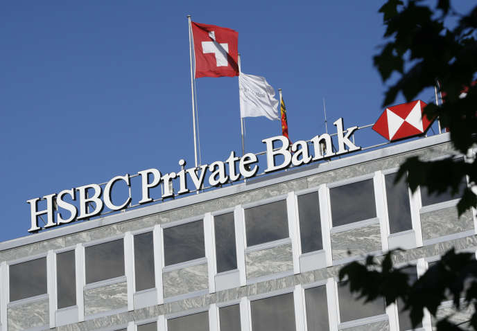 L'immeuble de la banque HSBC à Genève, en 2008.