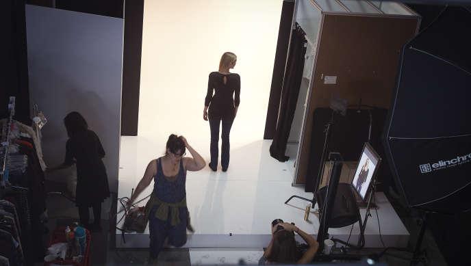 Séance photo dans un studio new-yorkais, en octobre2013.