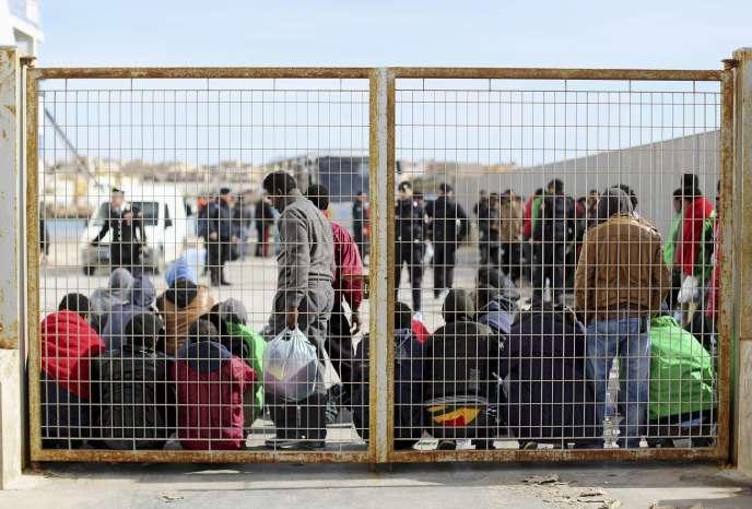A Lampedusa, le 20 février.
