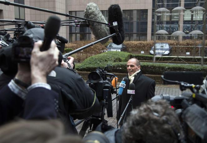 Yanis Varoufakis, le ministre grec des finances, vendredi 20 février à Bruxelles.