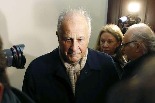 Patrice de Maistre, ancien homme de confiance des Bettencourt, au tribunal de Bordeaux, le 26janvier 2015.