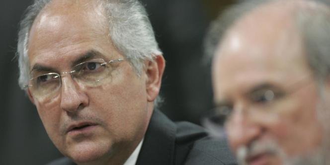 Antonio Ledezema, maire de Caracas arrêté le 19 février.
