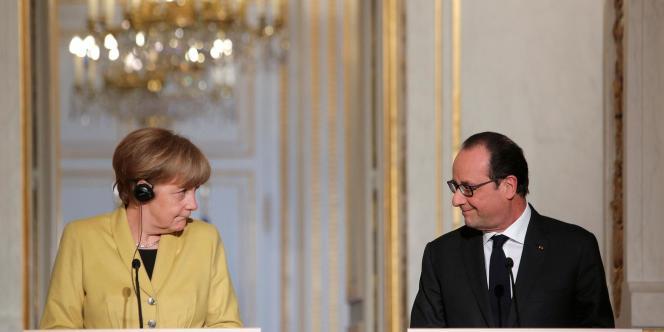 Angela Merkel et François Hollande le 20 février à l'Elysée.