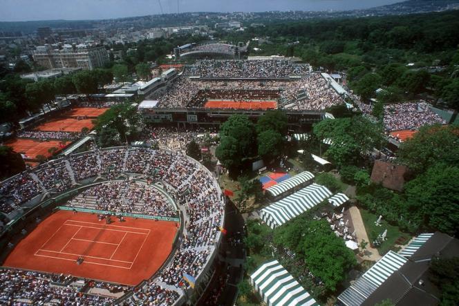 Le site actuel de Roland-Garros, à Paris (16e).