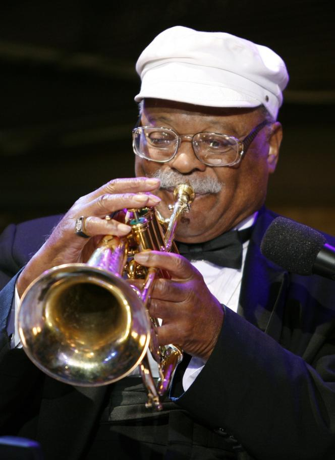 Le trompettiste de jazz Clark Terry en 2006.