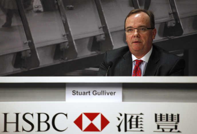 Le directeur général d'HSBC, Stuart Gulliver, lors d'une conférence à Hongkong en 2011.