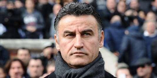 Christophe Galtier, le 22 février lorsqu'il était entraîneur de Saint-Etienne.