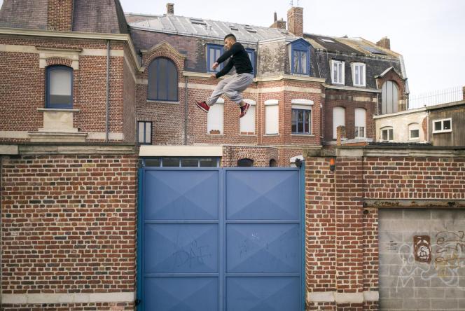 Entraînement dans le centre ville de Roubaix le 18 février.