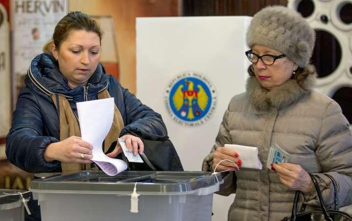 A Chisinau, le 30 novembre 2014, lors des élections legislatives.