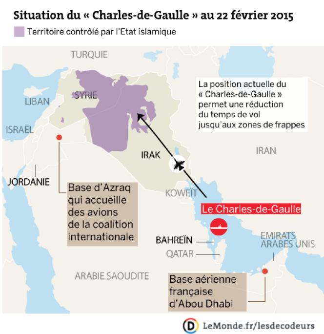 Situation géographique du Charles-de-Gaulle