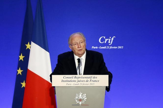 Roger Cukierman, président du CRIF lors du dîner annuel de l'institution le 23 février.