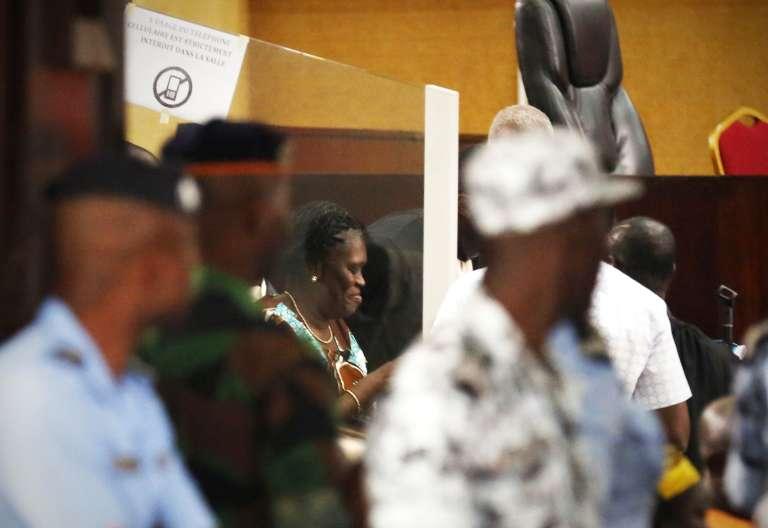 Simone Gbagbo, le 23 février au tribunal d'Abidjan.