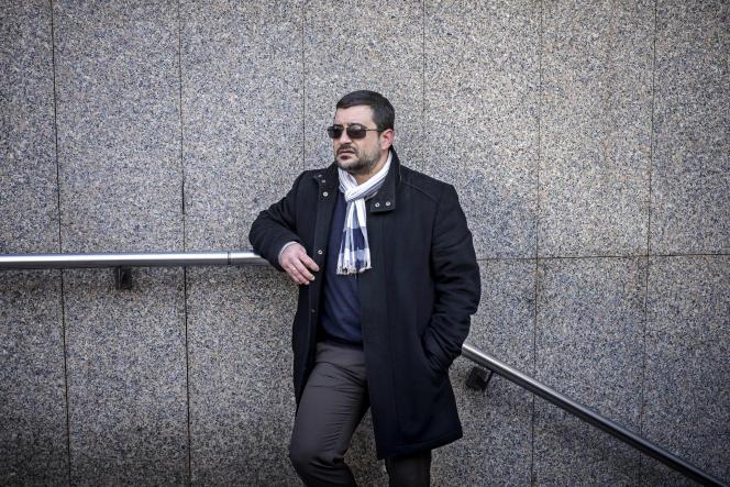 David Vallat, ex-djihadiste, le 12 février à Lyon.