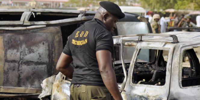 Le 24 février 2015 à Kano, au nord du Nigeria, à la suite d'un attentat-suicide commis par Boko Haram.