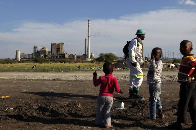 Un site minier de l'exploitant britannique de platine Lonmin, au nord-ouest de Johannesburg.