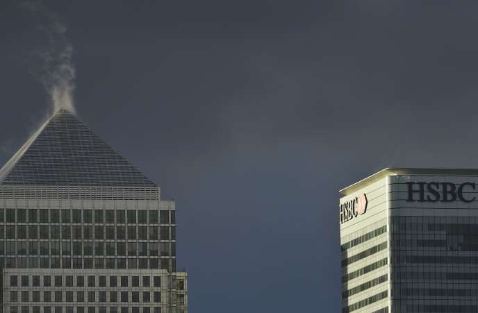 Le siège londonien de la banque HSBC dans le quartier de Canary Wharf. La banque suisse est au cœur du scandale