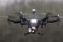 Un drone en banlieue parisienne, en février.
