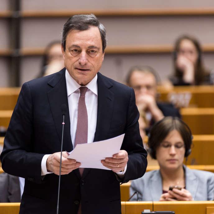 Le gouverneur de la Banque centrale européenne, Mario Draghi, à Bruxelles le 25 février.