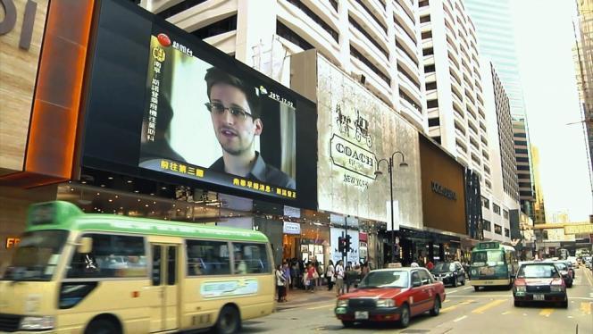 « Citizenfour » montre les retombées des révélations de Snowden. Ici sur une chaîne d'info, à Hongkong, où l'agent avait d'abord trouvé refuge.