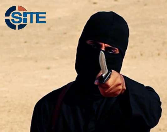 Le «Washington Post« a identifié cet homme masqué comme étant le Britannique Mohammed Emwazi, surnommé« Jihadi John», ici en février 2015.