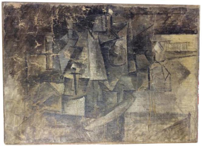 La toile cubiste « La Coiffeuse », peinte en 1911, avait été envoyée outre-Atlantique comme cadeau de Noël.