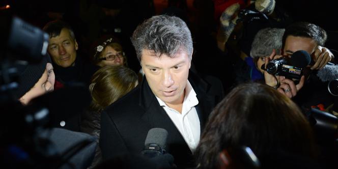 Boris Nemtsov à Moscou, le 5 décembre 2012.