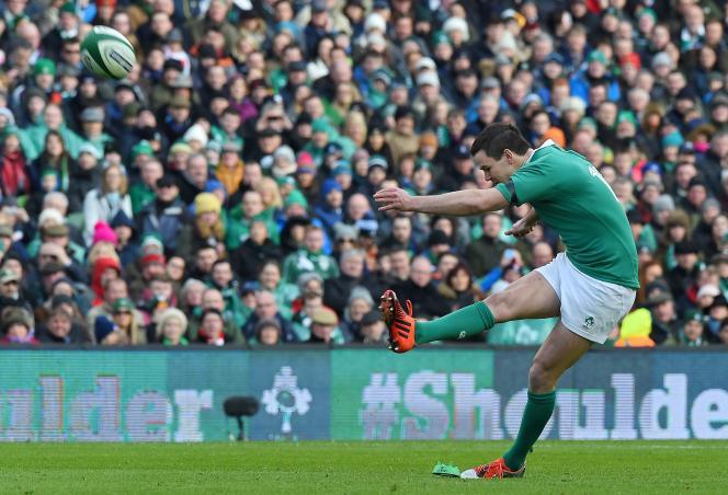 Le demi d'ouverture irlandais Jonathan Sexton, le 1er mars, à Dublin.