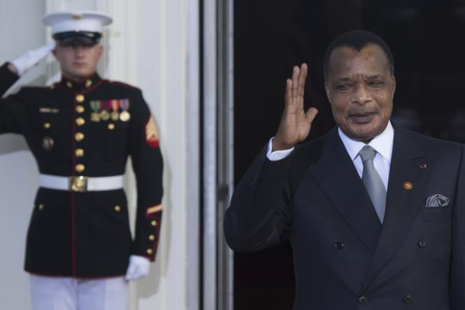 Le président congolais Denis Sassou Nguesso, le 5 août 2014 à Washington.