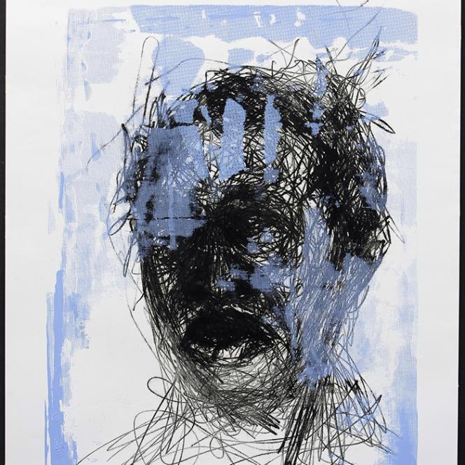 Face with Blue, par Admire Kamudzengerere