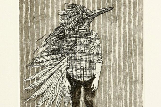 Auto-portrait en oiseau, par Bevan de Wet.