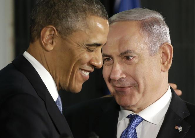 Barack Obama et Benyamin Nétanyahou, en mars 2013.