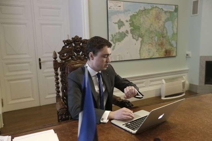 Le premier ministre estonien, Taavi Roivas, à Tallinn, le 19février