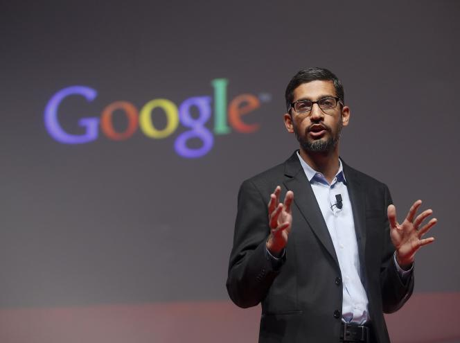 Sundar Pichai, devenu président de Google en 2015.