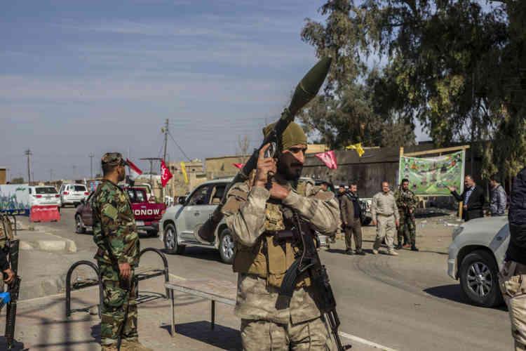 A Mkeishfa, ville déserte libérée et contrôlée par le mouvement chiite Mobilisation populaire. Cette zone, située entre Samarra et Tikrit, subit encore des attaques de l'Etat islamique.