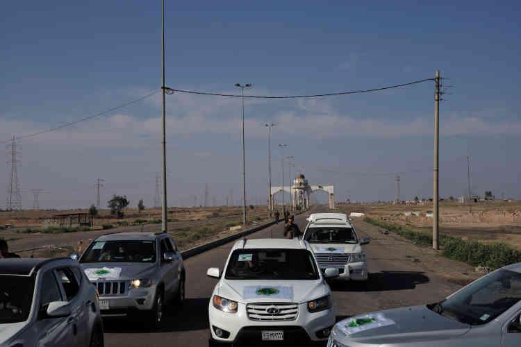 La porte sud de Tikrit. La reconquête de la ville natale de Saddam Hussein a un goût de revanche. Baptisée « opération Speicher », elle vise à venger le massacre de 1700recrues, principalement chiites, exécutées par l'EI dans cette base militaire au nord de la ville.