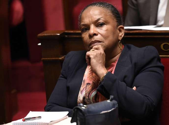 Christiane Taubira le 4 mars à l'Assemblée nationale.