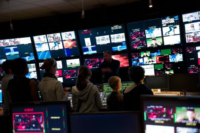 Lors d'une journée portes ouvertes au siège de France Télévisions, à Paris, en septembre 2012.