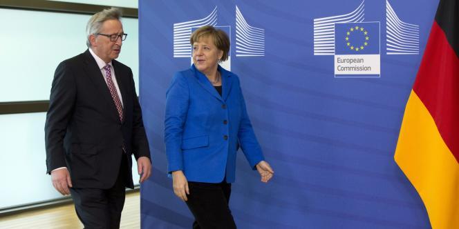 Jean-Claude Juncker et Angela Merkel à Bruxelles le 4 mars.