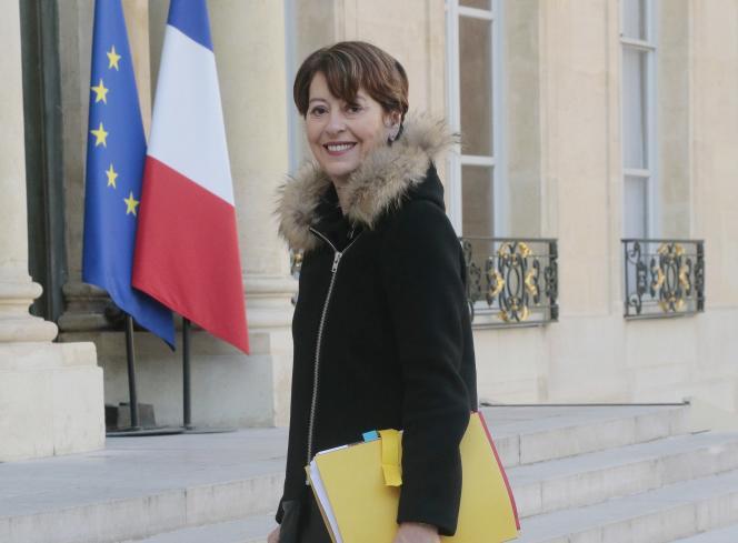 La contrôleuse générale des lieux de privation de liberté, Adeline Hazan, à l'Elysée, le 5 mars.