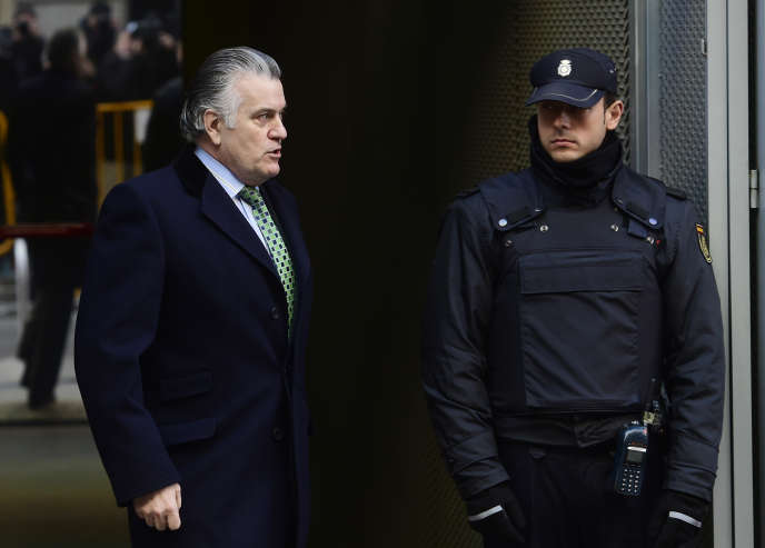 L'ancien trésorier du Parti populaire espagnol Luis Barcenas, à Madrid le 13 janvier.