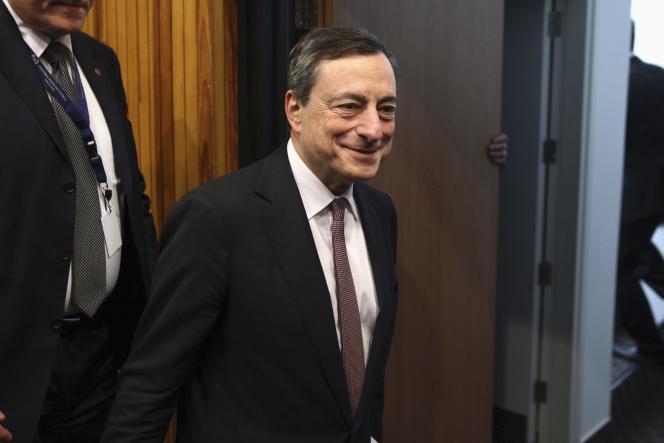 Mario Draghi, le patron de la Banque centrale européenne, en mars à Nicosie.