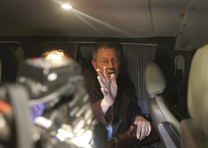 Robert Serry, envoyé spécial pour le processus de paix au Proche-Orient, à Simferopol (Crimée), le 5 mars 2014.