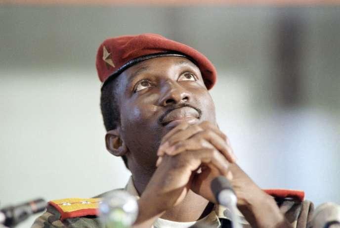 Thomas Sankara lors d'un sommet non aligné à Harare, auZimbabwe, le 2 septembre 1986.