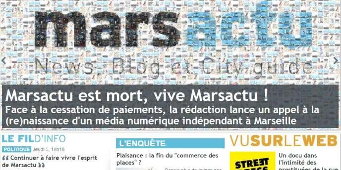 Capture du site Marsactu, jeudi 5 mars.