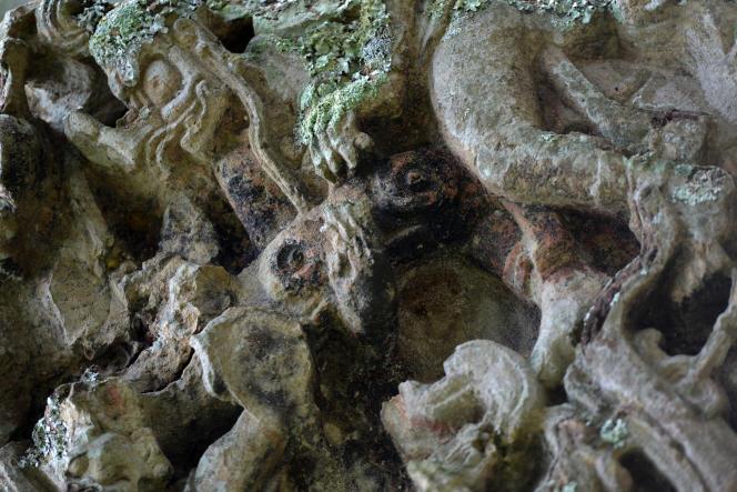 Des vestiges d'une civilisation Maya, au Honduras.