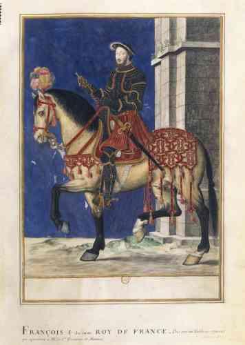 Le portrait équestre du roi en armure s'inspire de l'iconographie des empereurs de l'Antiquité.